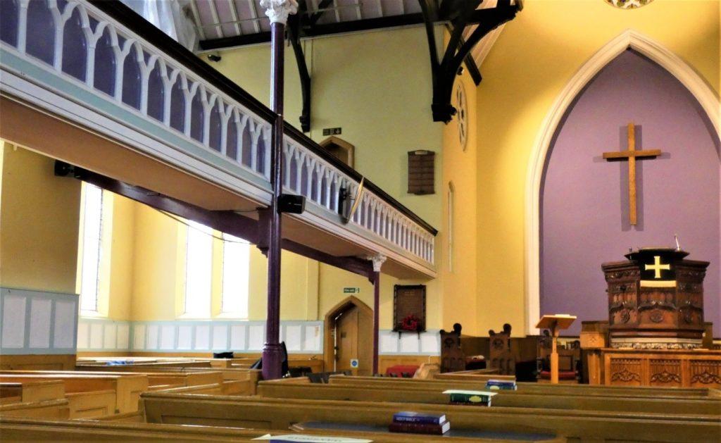 Worship area of Headingley Methodist Church