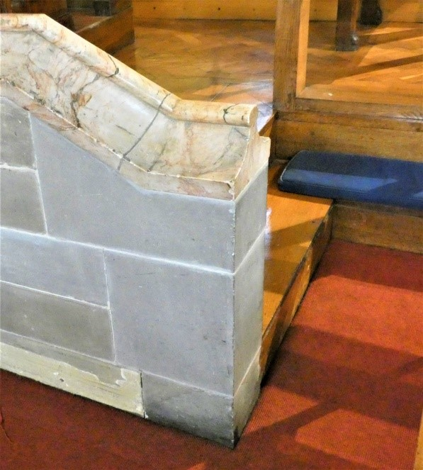 Stone wall at the side of the Chancel at Headingley Methodist Church